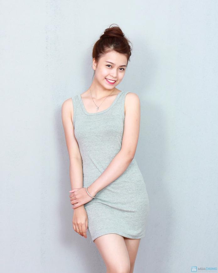 2 váy ba lỗ cotton thoáng mát cho ngày hè - 3