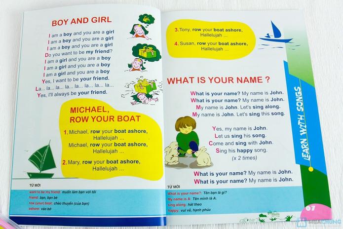 Learning English with songs + 8 cuốn Bé học tiếng Anh & phát triển IQ - 2