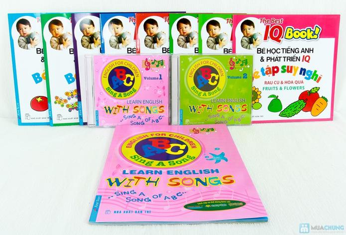 Learning English with songs + 8 cuốn Bé học tiếng Anh & phát triển IQ - 4