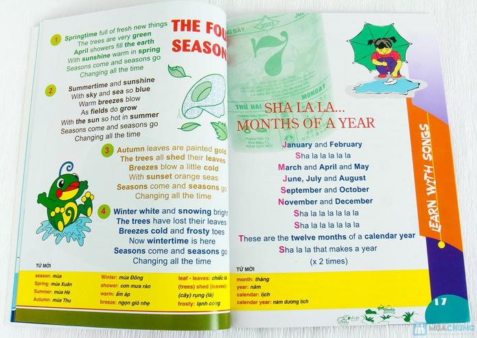 Learning English with songs + 8 cuốn Bé học tiếng Anh & phát triển IQ - 3