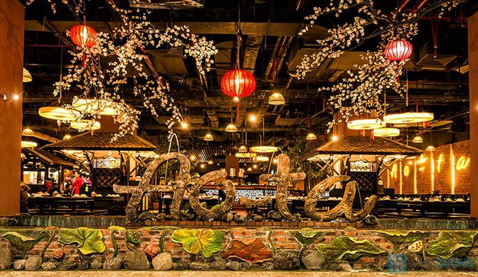 Buffet Lẩu Nướng Thạch Xanh chỉ ó Tại Làng Ẩm Thực Ao Ta - 1