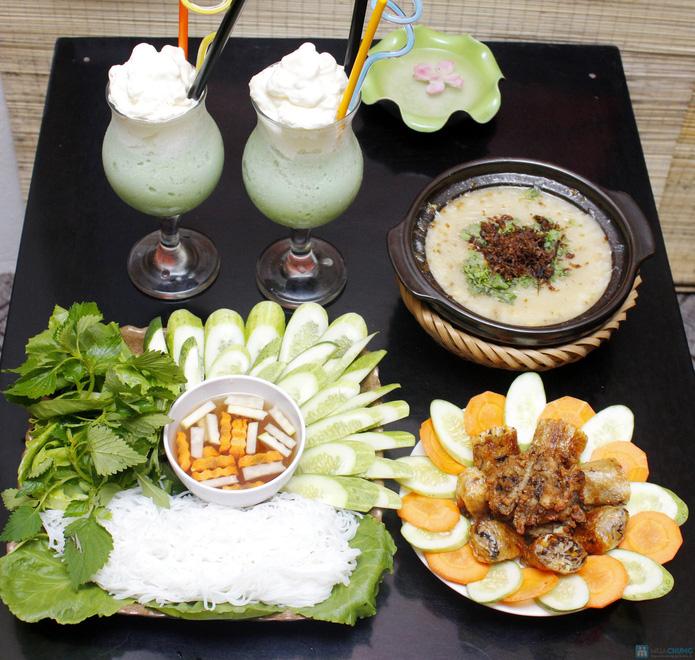 Set ăn chay thanh đạm tại Tịnh Thư Quán - 1