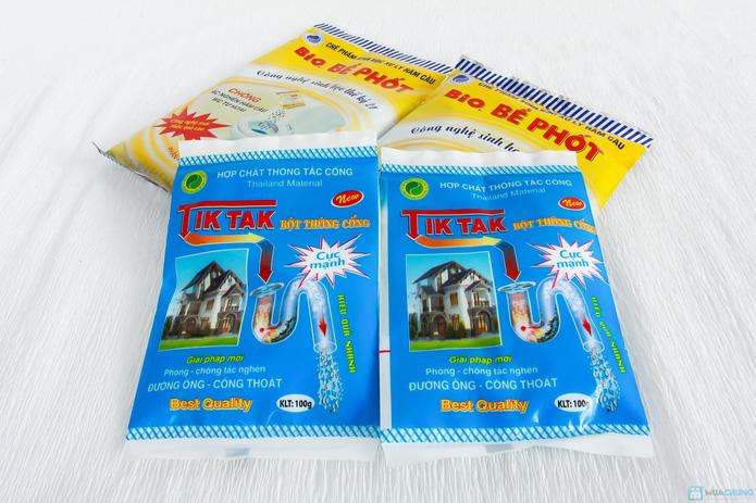 Combo Bột thông cống Tiktak + Bột Bio. thông bể phốt - 3