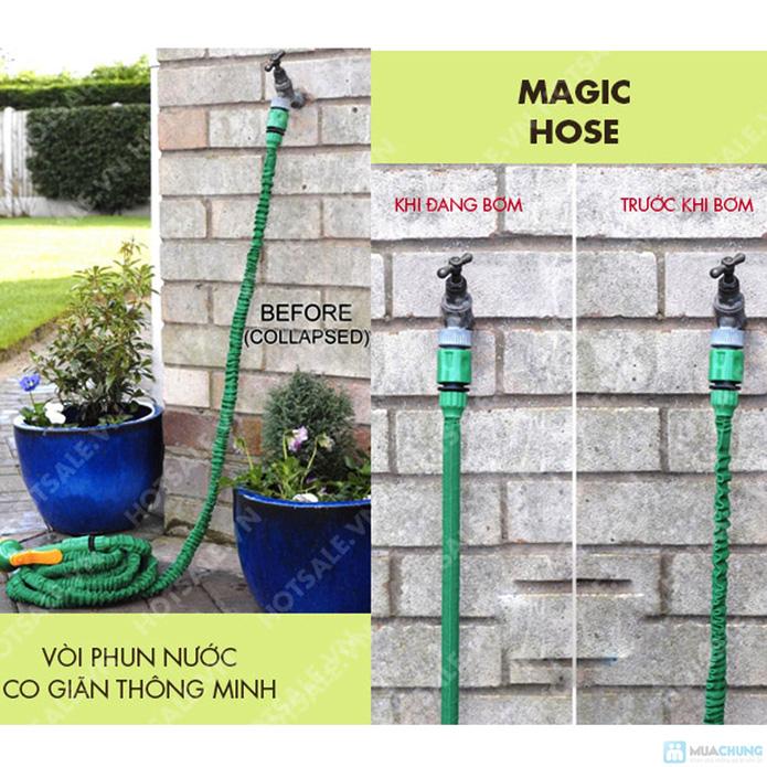 Vòi phun nước giãn nở thông minh Magic Hose dài 5m - 1