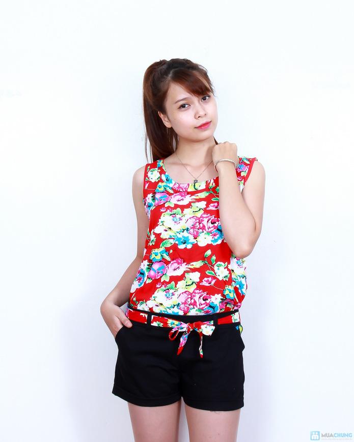 02 bộ áo lanh quần short xinh xắn - 1