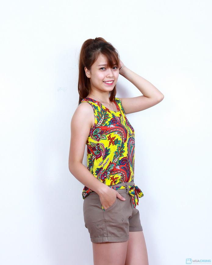 02 bộ áo lanh quần short xinh xắn - 10