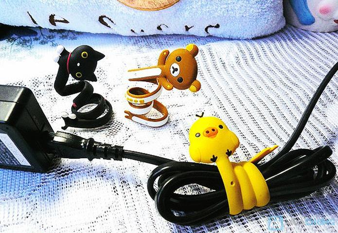 5 Dụng cụ thu gọn dây điện bấm nút hình thú ngộ nghĩnh - 4