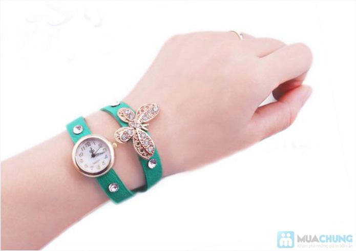 Đồng hồ kèm lắc tay hình bướm xinh xắn - 2