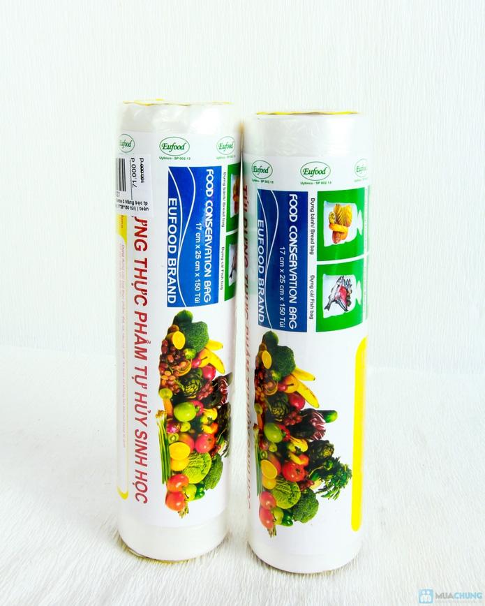 2 cuộn túi đựng thực phẩm tự hủy sinh học - 1
