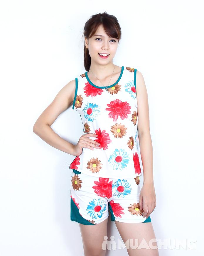 Bộ quần short áo sát nách cotton hoa xinh xắn  - 8