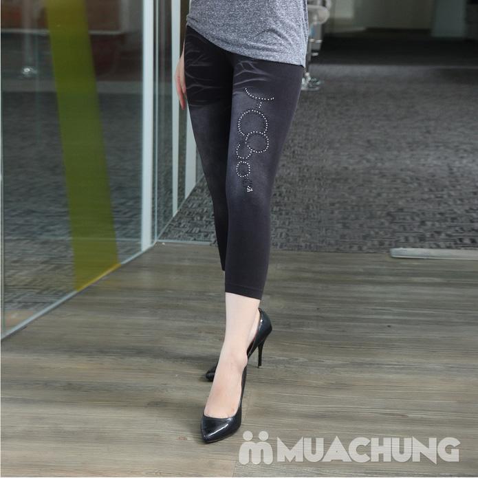 Combo 2 quần legging lửng đính đá - 3