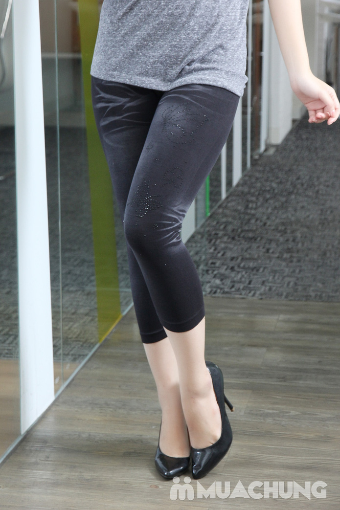 Combo 2 quần legging lửng đính đá - 9