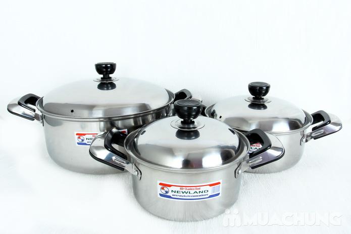 Bộ 3 nồi inox Newland dùng được cho bếp từ - 2