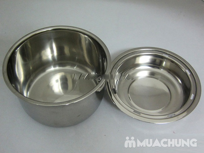Hộp cơm hâm nóng Komachi 3 ngăn inox tháo rời - 4