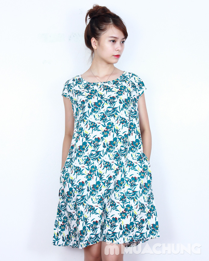 Váy lanh họa tiết sắc màu - 5