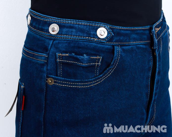 Quần Jean cạp cao bo gấu thời trang - 4