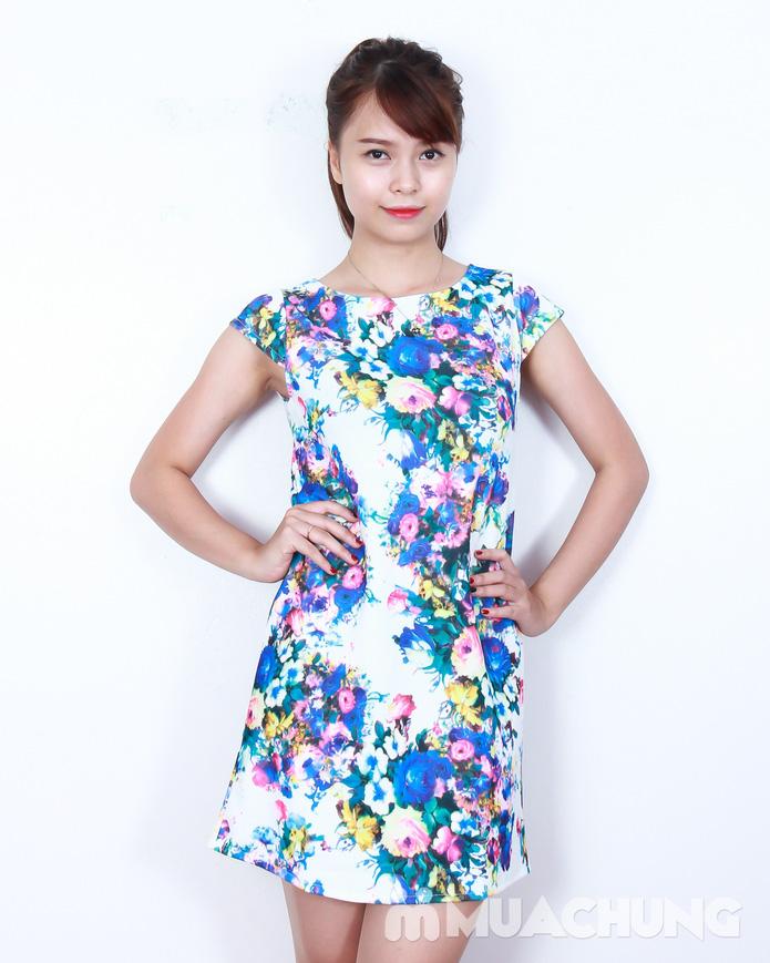 Váy suông họa tiết hoa thời trang - 3