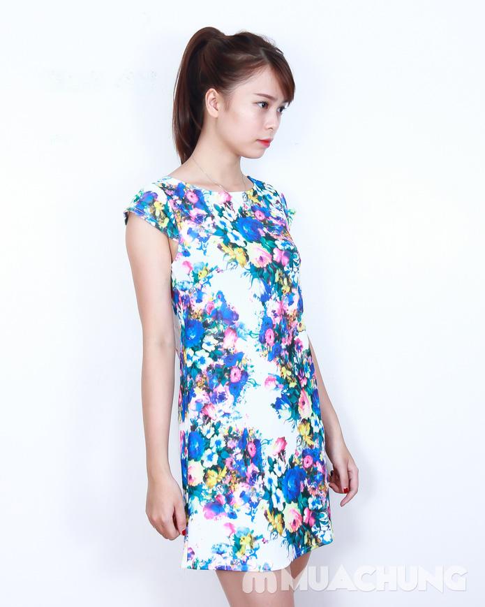 Váy suông họa tiết hoa thời trang - 1