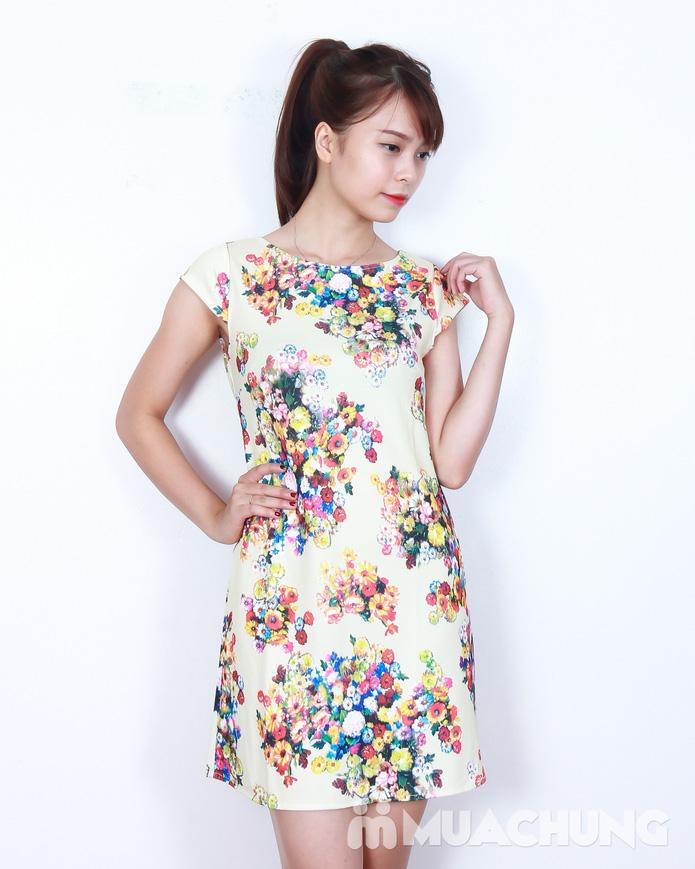Váy suông họa tiết hoa thời trang - 9
