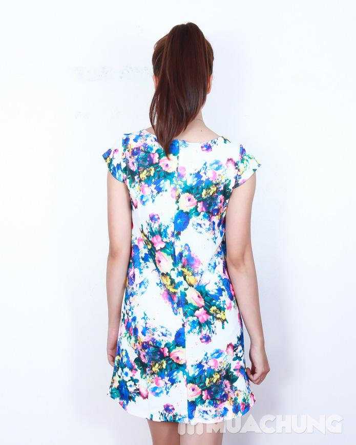 Váy suông họa tiết hoa thời trang - 2