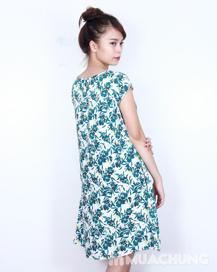 Váy lanh họa tiết sắc màu - 7