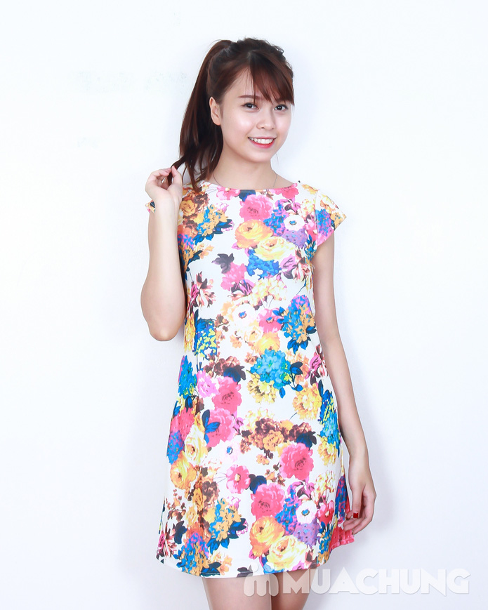Váy suông họa tiết hoa thời trang - 5