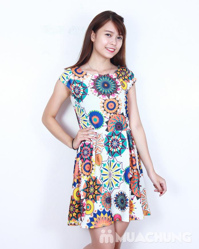 Váy xòe hoa điệu đà - 5
