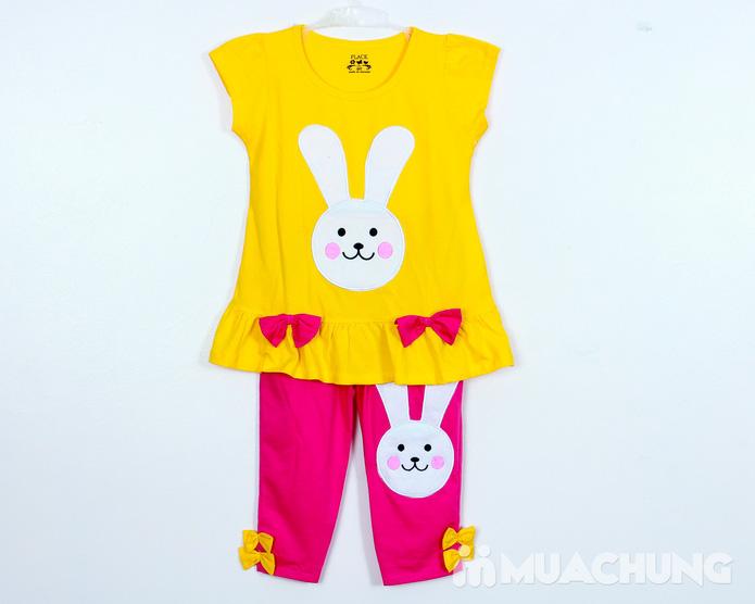 Bộ quần áo cotton hình thỏ đáng yêu - 4