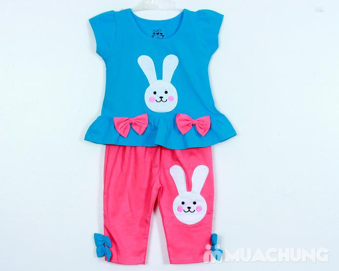 Bộ quần áo cotton hình thỏ đáng yêu - 3