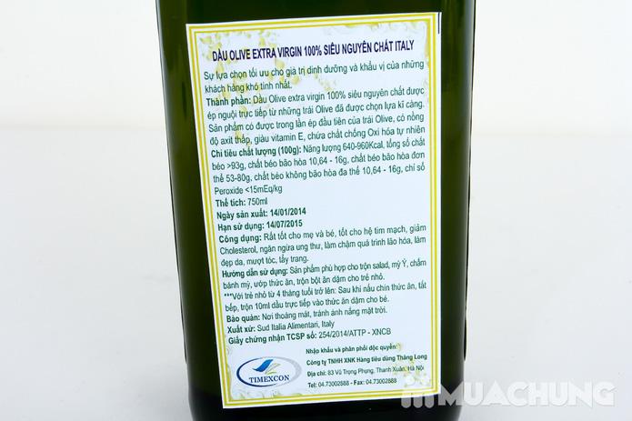Dầu Oliu Extra Virgin 100% siêu nguyên chất Italy - 9