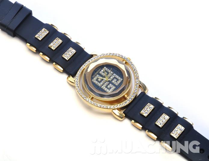 Đồng hồ nữ mặt tròn viền hạt - 5