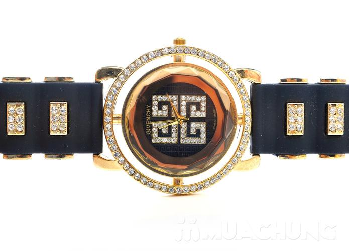 Đồng hồ nữ mặt tròn viền hạt - 10