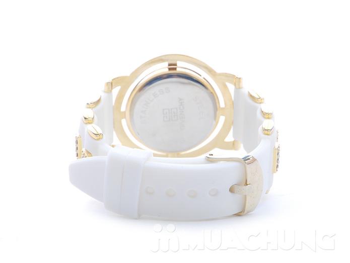 Đồng hồ nữ mặt tròn viền hạt - 8