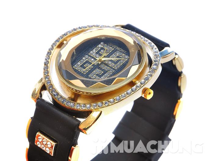 Đồng hồ nữ mặt tròn viền hạt - 7