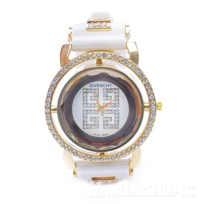 Đồng hồ nữ mặt tròn viền hạt - 2
