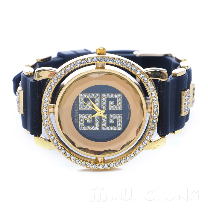 Đồng hồ nữ mặt tròn viền hạt - 3