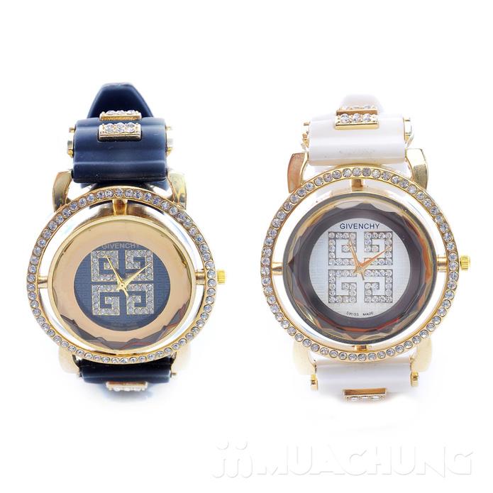 Đồng hồ nữ mặt tròn viền hạt - 4