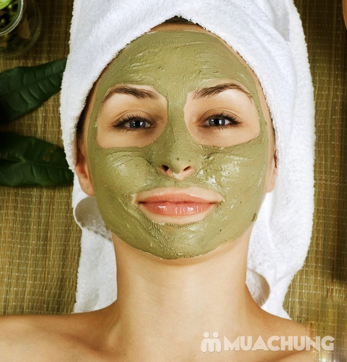 Massage Oxy tươi mặt nạ trà xanh nguyên chất làm trắng da tại Lilac Spa - 3