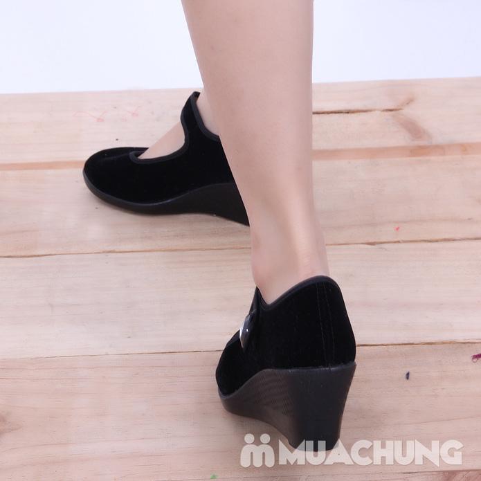 Giày nhung đế xuồng - 8