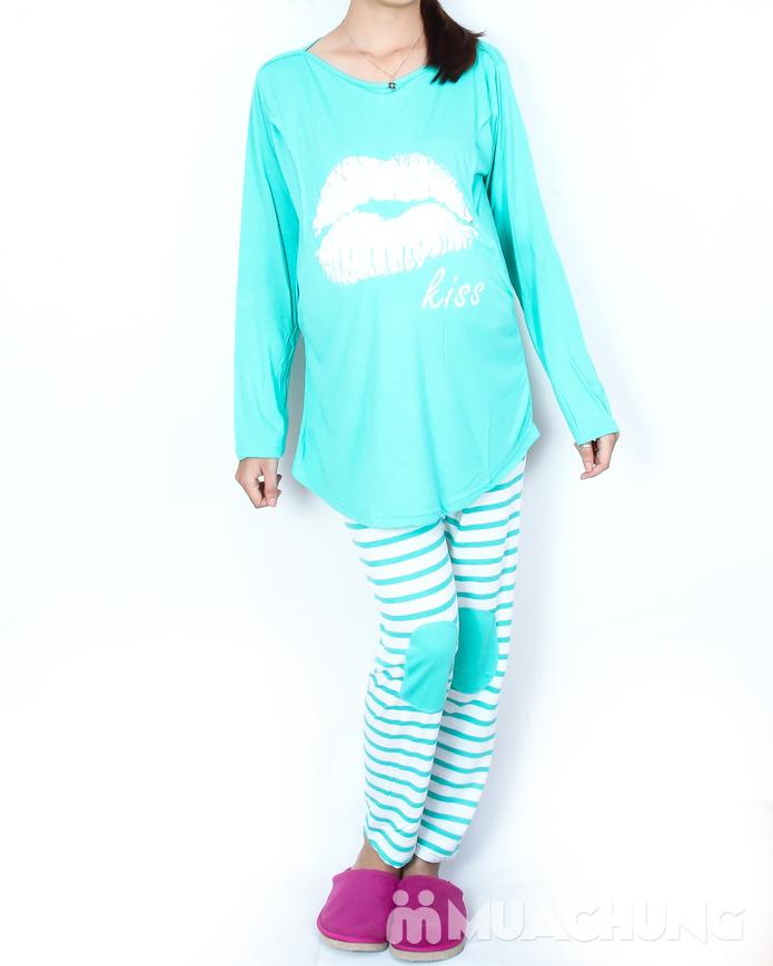 Bộ đồ mặc nhà kết hợp cho bé bú tiện dụng - 6