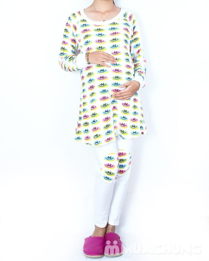 Bộ đồ mặc nhà kết hợp cho bé bú tiện dụng - 4