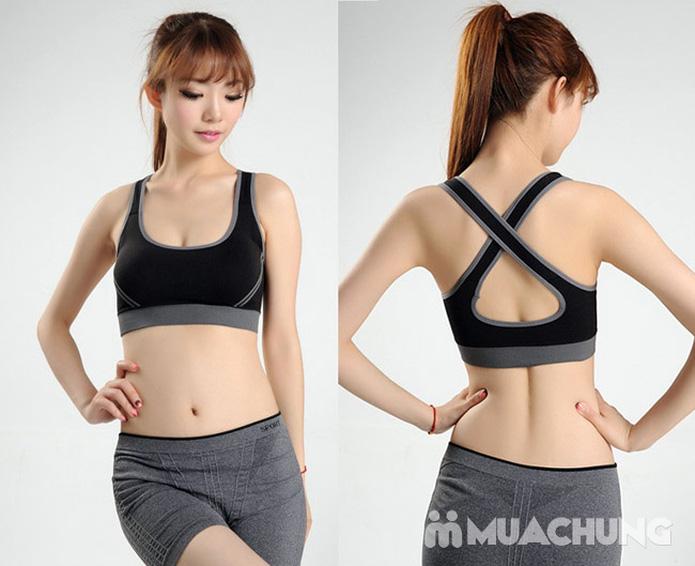Áo ngực thể thao 2 lớp có mút nâng ngực - 8