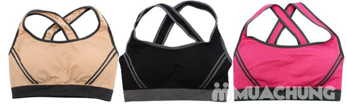 Áo ngực thể thao 2 lớp có mút nâng ngực - 2