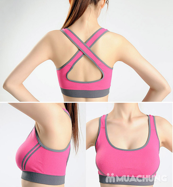 Áo ngực thể thao 2 lớp có mút nâng ngực - 9