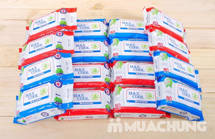 4 gói khăn ướt cao cấp Maxcool loại 80 tờ - 6