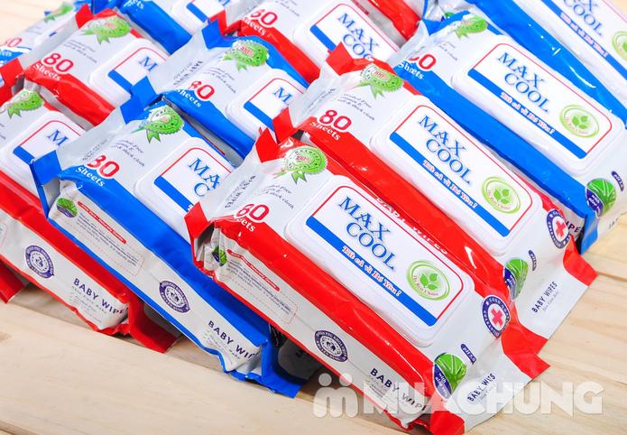4 gói khăn ướt cao cấp Maxcool loại 80 tờ - 7