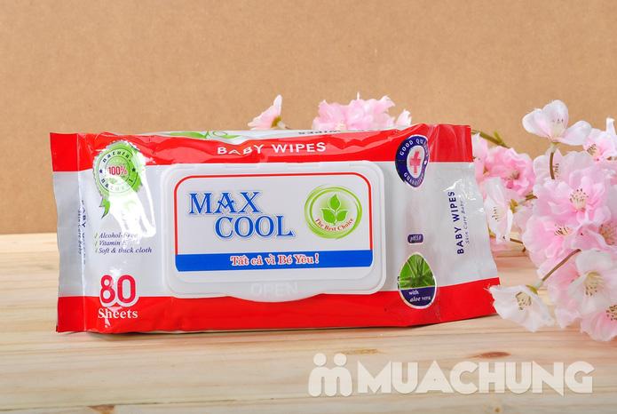 4 gói khăn ướt cao cấp Maxcool loại 80 tờ - 2