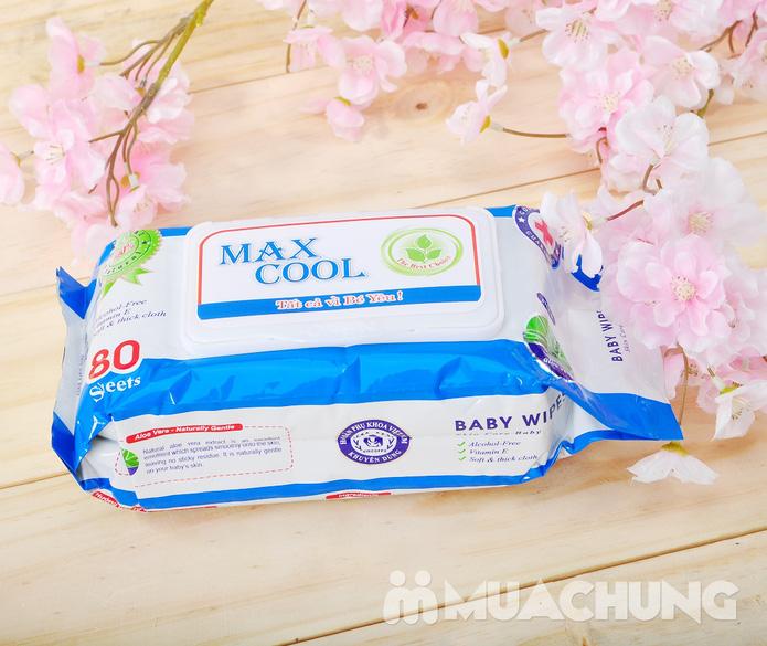 4 gói khăn ướt cao cấp Maxcool loại 80 tờ - 4