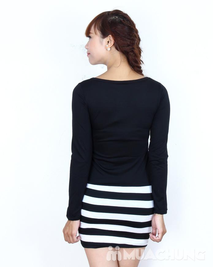 Váy cotton blend nữ chân váy kẻ - 3