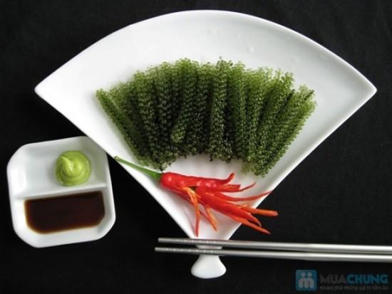 Rong nho khô - ngon, giàu dinh dưỡng, tẩy độc, đẹp da. Giống và quy trình nuôi trồng chế biến của Nhật Bản. Chỉ 120.000đ